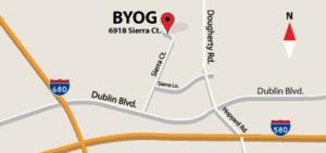 BYOG map