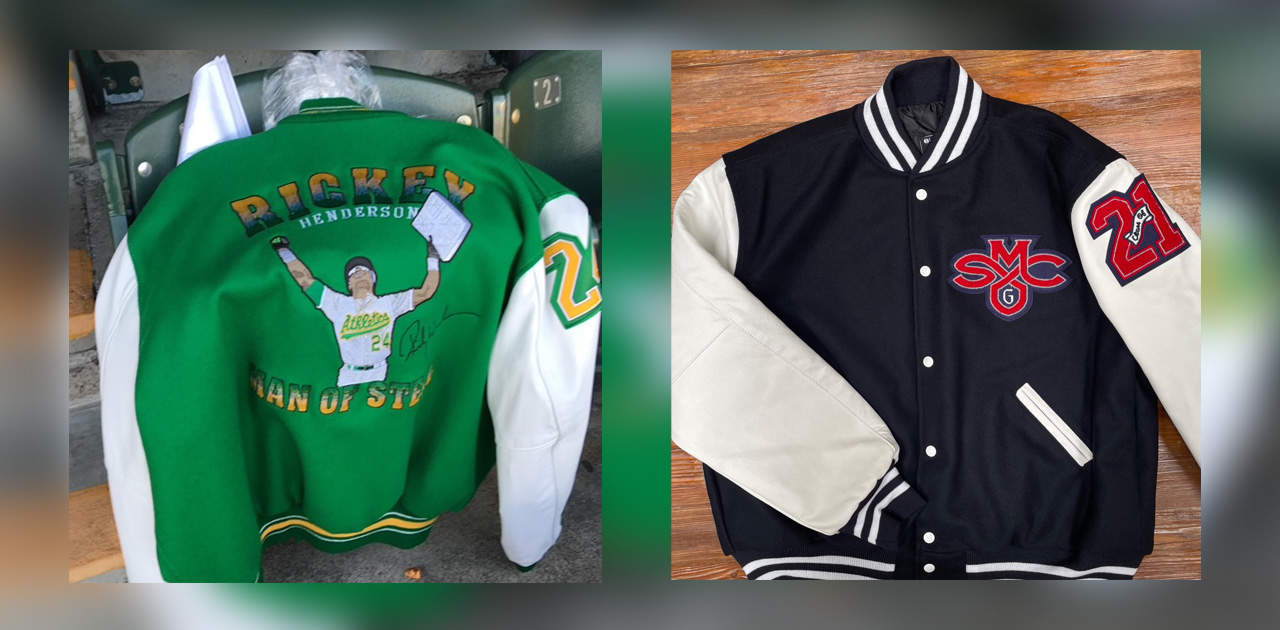THAT TIME MATT GOULD WALKED UP TO A'S PLAYER RICKEY HENDERSON TO GIVE HIM A CUSTOM EMBROIDERED JACKET