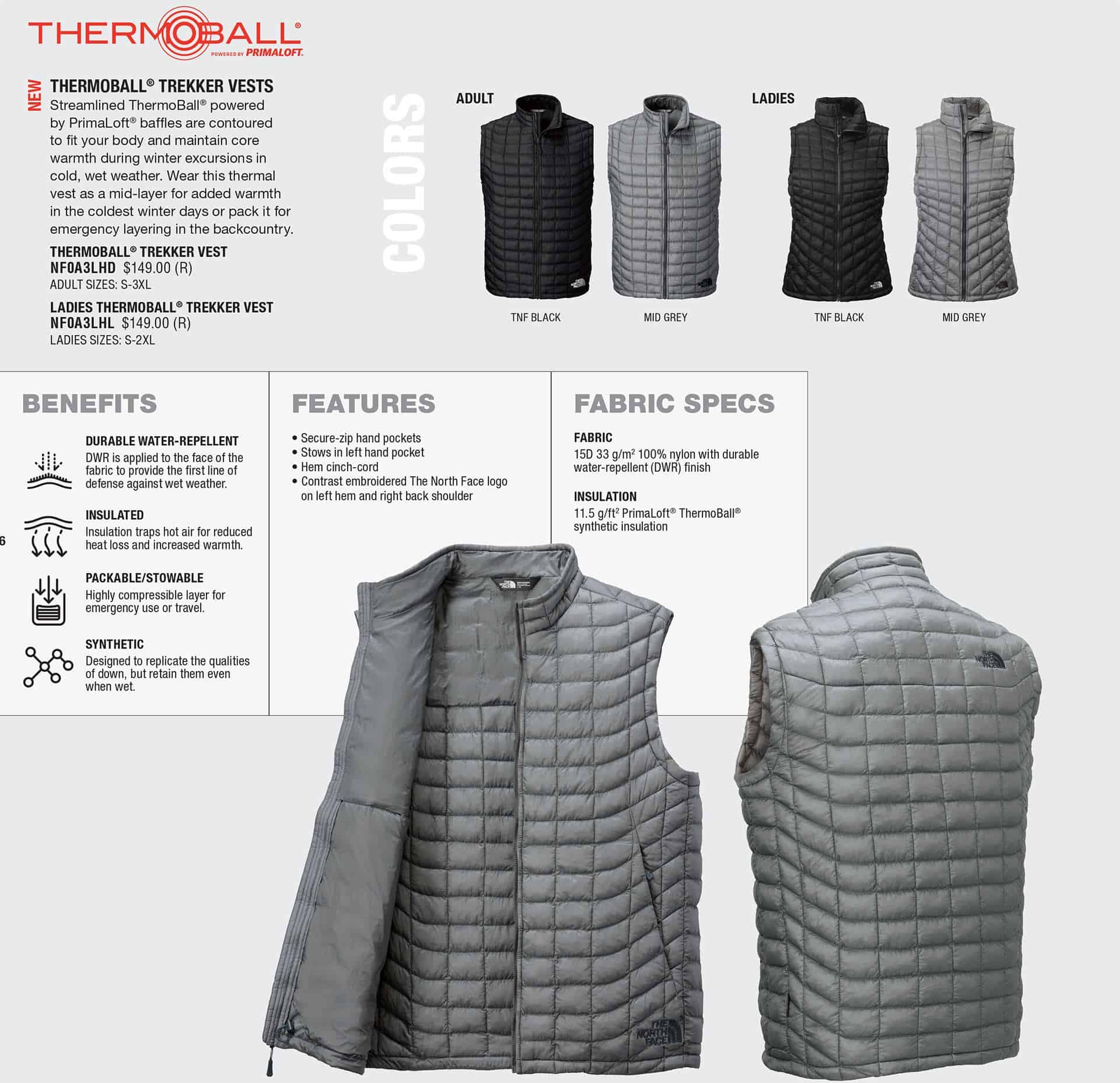 ab2fc146cc Custom North Face Jackets – Thermoball Vests