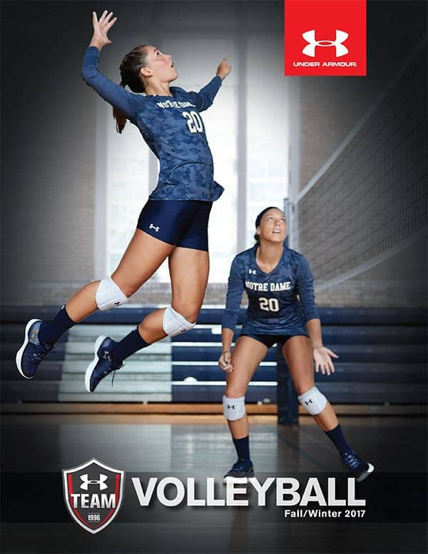 Customized Under Armour volleyball uniforms