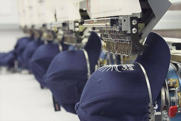 Machine for embroidered workwear